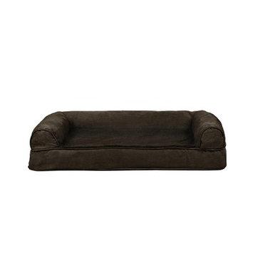 FurHaven Plush Cooling Gel Top Sofa Pet Bed Espresso