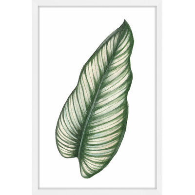 Marmont Hill Inc Marmont Hill - 'Top Leaf I' by Shayna Pitch Framed Painting Print