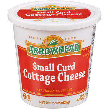 Arrowhead® Small Curd Cottage Cheese 22 oz. Plastic Tub