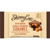 SKINNY COW DIVINE FILLED CHOCOLATE Caramel Candy 0.33 oz. Pack