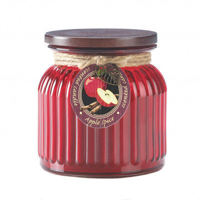 Koehlerhomedecor Apple Spice Ribbed Jar Candle
