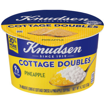 Knudsen Cottage Doubles Cottage Cheese & Pineapple Topping 4.7 oz. Tub