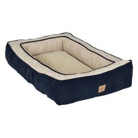 Precision Pet Snoozzy Chevron Chennille Gusset Low Bumper Floor Bolster Dog Bed