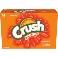 Crush Orange Soda, 12 Fl Oz Cans, 24 Pack