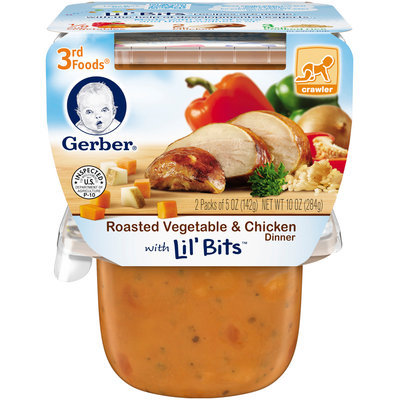 Gerber® 3rd Foods® Roasted Vegetable & Chicken Dinner with Lil' Bits™ 2-5 oz. Packs (Pack of 6)