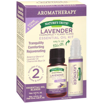 Nature's Truth® Aromatherapy Lavender+Chamomile+Ylang Ylang Essential Oil Kit 0.84 fl. oz. Box