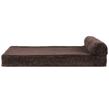 Zoey Tails Faux Fleece and Corduroy Dog Sofa Color: Dark Espresso, Size: Medium ( 30