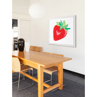 Marmont Hill Inc Marmont Hill - 'Strawberry' by Molly Rosner Framed Painting Print