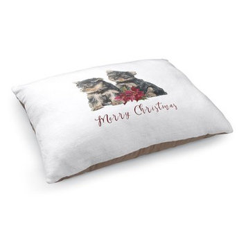 Kavka Yorkshire Terrier Merry Christmas Pet Pillow