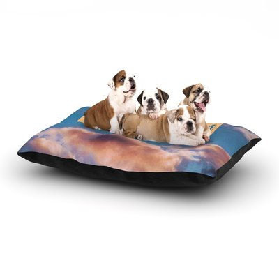 East Urban Home Iris Lehnhardt 'Dream' Clouds Dog Pillow with Fleece Cozy Top Size: Small (40