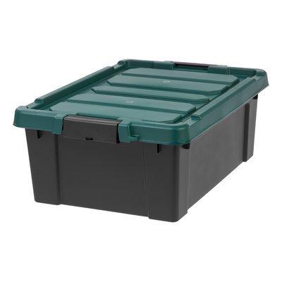 Iris Remington Plastic Storage Tote Capacity: 10 Gallon