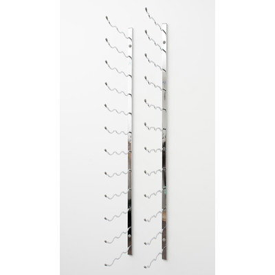 Vintageview Wall Series 54 Bottle Wall Mounted Wine Bottle Rack Finish: Chrome