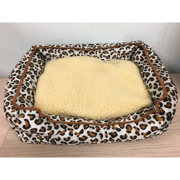 Yml Leopard Print Plush Bed Cushion Size: 6