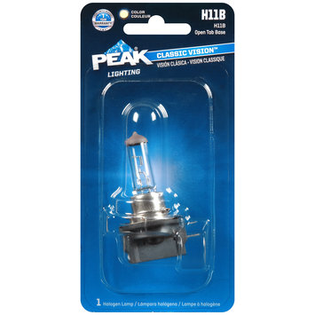 PEAK® Lighting Classic Vision™ Clear Halogen Lamp H11B Carded Pack