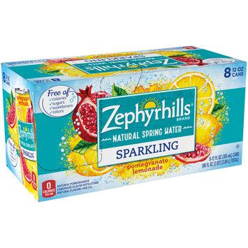 ZEPHYRHILLS Pomegranate Lemonade Sparkling Natural Spring Water 12oz cans (Pack of 8)