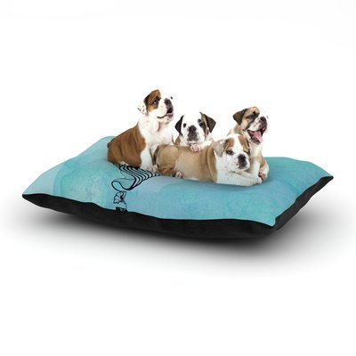 East Urban Home Graham Curran 'Shark Record III' Dog Pillow with Fleece Cozy Top Size: Large (50