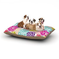 East Urban Home Agnes Schugardt 'Pie in the Sky' Abstract Dog Pillow with Fleece Cozy Top Size: Large (50