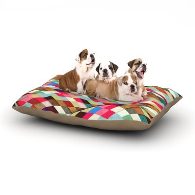 East Urban Home Danny Ivan 'Adored' Art Object Dog Pillow with Fleece Cozy Top Size: Large (50
