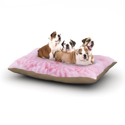 East Urban Home Debbra Obertanec 'Cupcake Pink' Sparkle Dog Pillow with Fleece Cozy Top Size: Large (50