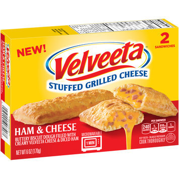 Velveeta™ Ham & Cheese Stuffed Grilled Cheese Sandwiches 2 ct Box