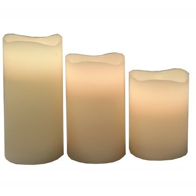 Darby Home Co 3 Piece Unscented Flameless Candle Set