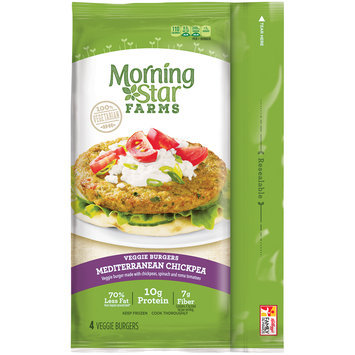 MorningStar Farms® Mediterranean Chickpea Veggie Burgers 9.5 oz. Pack