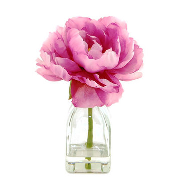 House Of Hampton Peony in a Glass Jar with Faux Water
