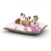 East Urban Home Monika Strigel 'Cherry Sakura' Floral Nature Dog Pillow with Fleece Cozy Top Color: Pink, Size: Small (40