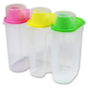 Basicwise Plastic Food Saver Cereal Storage Container