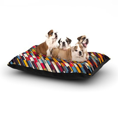 East Urban Home Danny Ivan 'Texturize' Dog Pillow with Fleece Cozy Top Size: Large (50