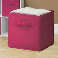 Ggi International Sorbus Collapsible Foldable Storage Cube Basket Bin Color: Pink