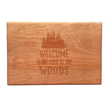 Susquehanna Glass Wood Welcome To Our Neck of the Woods Artisan Cutting Board