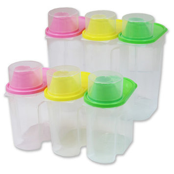 Basicwise Plastic Food Saver Kitchen Food Cereal Storage Container