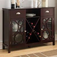 Red Barrel Studio Broadway Village Wood Storage 16 Bottle Floor Wine Cabinet