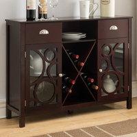 Red Barrel Studio Broadway Village Wood Storage 16 Bottle Floor Wine Cabinet