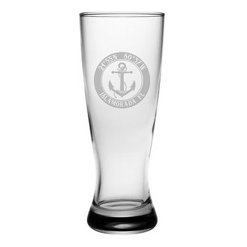 Longshore Tides Galvez Anchor Grand Pilsner 20 oz. Glass Pint Glass