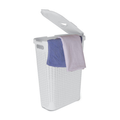 Superior Performance Palm Luxe Laundry Hamper Color: White
