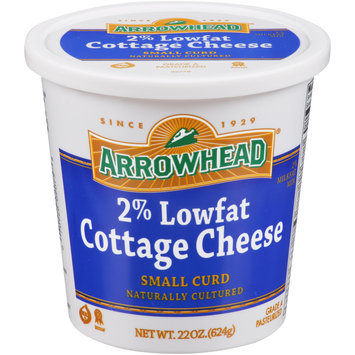 Arrowhead® 2% Lowfat Small Curd Cottage Cheese 22 oz. Plastic Tub