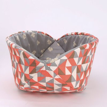Thecatball Orange and Gray Geo Cat Bed