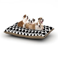 East Urban Home Gabriela Fuente 'Happy X-Mas' Geometric Monotone Dog Pillow with Fleece Cozy Top Size: Small (40