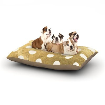 East Urban Home KESS Original 'Scattered' Dog Pillow with Fleece Cozy Top Color: Gold, Size: Large (50
