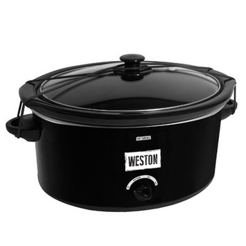 Weston Slow Cooker 5 qt. with Lid Latch Strap