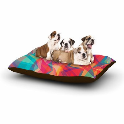 East Urban Home Miranda Mol 'Triangle Opticals' Dog Pillow with Fleece Cozy Top Size: Small (40