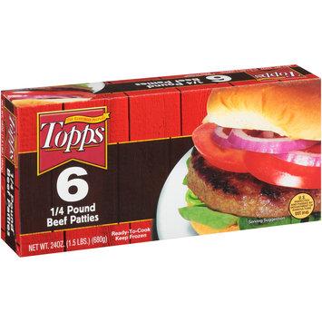 Topps 6 1/4 Pound Beef Patties 24 oz Box
