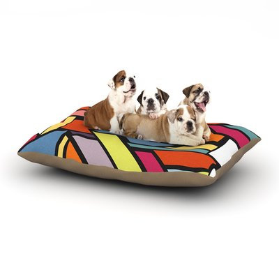 East Urban Home Danny Ivan 'Abstract Shapes' Dog Pillow with Fleece Cozy Top Size: Small (40