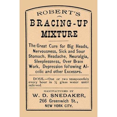 Buyenlarge 'Robert's Bracing - Up Mixture' Vintage Advertisement Size: 66