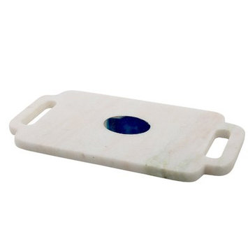Thirstystone Marble Serving Board with Agate Inlay