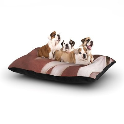East Urban Home Iris Lehnhardt 'Copper and Pale Pink' Flower Dog Pillow with Fleece Cozy Top Size: Large (50