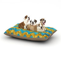 East Urban Home Beth Engel 'Blueberry Twist' Chevron Dog Pillow with Fleece Cozy Top Size: Large (50