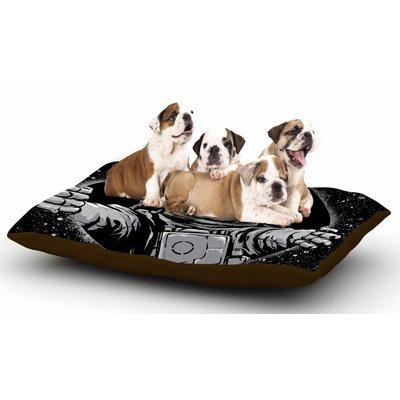 East Urban Home Digital Carbine 'Black Hole' Fantasy Digital Dog Pillow with Fleece Cozy Top